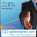 OPTIMALPRINT : 250 cartes de visite pour 16 euros