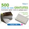 VISTAPRINT : En exclusivité 500 cartes de visite gratuites + 1 porte cartes gratuit