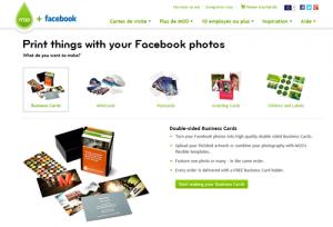 Créez vos MiniCards, Cartes de Visite, Stickers, Cartes Postales et Cartes de Voeux MOO à partir de vos propres photos sur Facebook.
